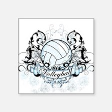 Volleyball Tribal Square Sticker
