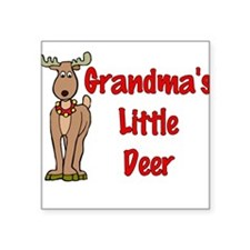 Grandma's Little Deer Square Sticker