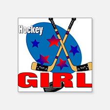 Hockey Girl Square Sticker