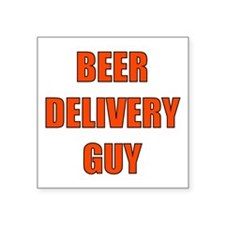 Beer Delivery Guy Square Sticker