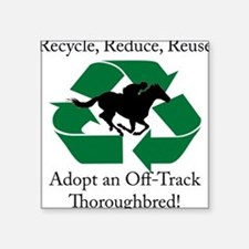 Adopt an OTTB Square Sticker