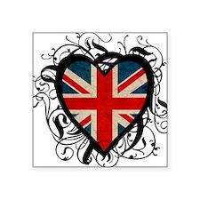 Heart England Square Sticker