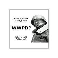 Patton Square Sticker