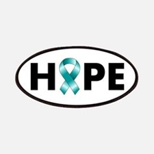 Teal Ribbon Hope Patches