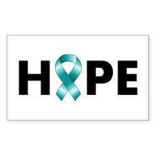 Teal Ribbon Hope Decal