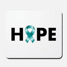 Teal Ribbon Hope Mousepad