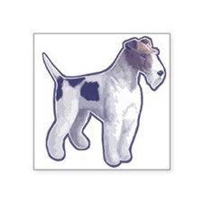 Wire Fox Terrier Square Sticker