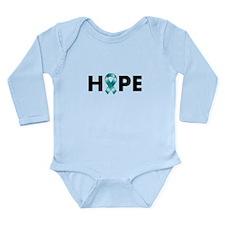 Teal Ribbon Hope Long Sleeve Infant Bodysuit