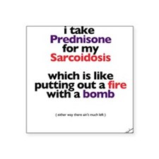 Preds: like a bomb Square Sticker