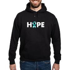 Teal Ribbon Hope Hoodie
