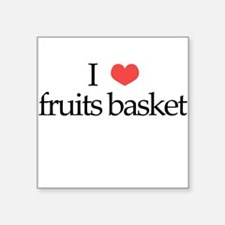 I Heart Fruits Basket Square Sticker