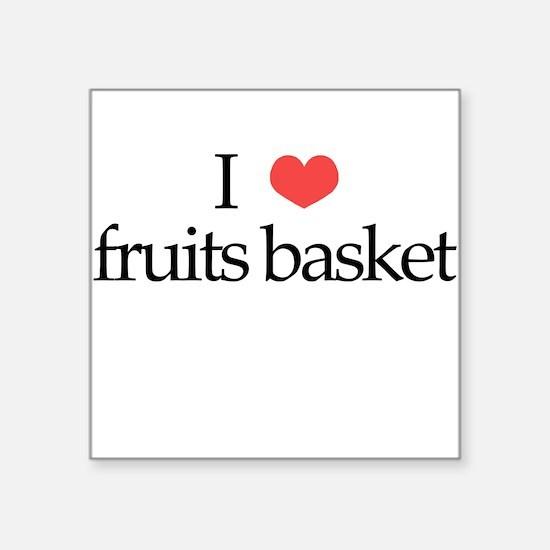I Heart Fruits Basket Square Sticker