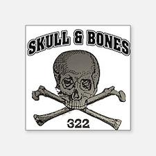 Skull Bones Square Sticker
