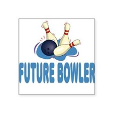 Future Bowler Baby Square Sticker