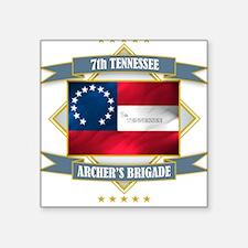 7th Tennessee Square Sticker
