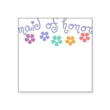 Girly-Cue Maid of Honor Square Sticker