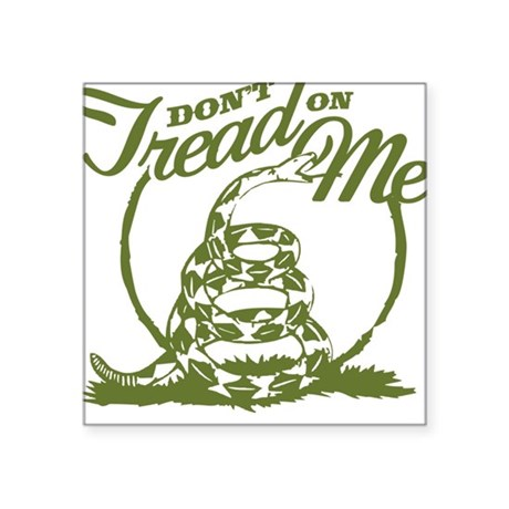 Dont Tread Snake Square Sticker