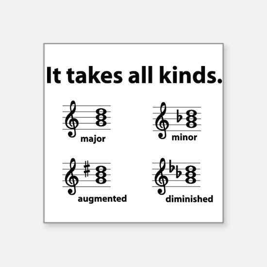 All Kinds Triads Square Sticker
