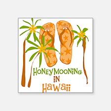 Honeymoon Hawaii Square Sticker