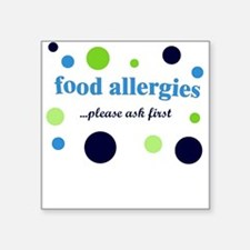 Food Allergies Square Sticker