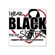 SK: Black for Sister Square Sticker