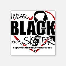 SK: Black for Sister Square Sticker
