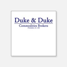 Duke & Duke Square Sticker