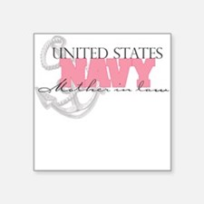 United States Navy Mother in Square Sticker