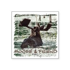 Moose & Friend Square Sticker