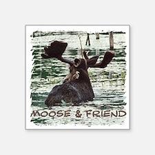 Moose & Friend Square Sticker