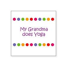 My Grandma does Yoga Square Sticker