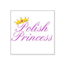 Polish Princess Square Sticker