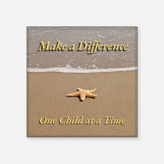 Make a Difference Square Sticker