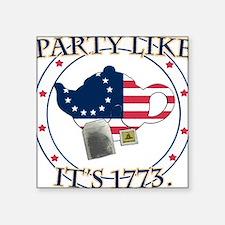 Tea Party 1773 Square Sticker