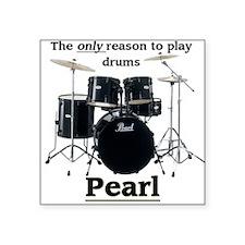 Pearl Drummer Design 2 Square Sticker