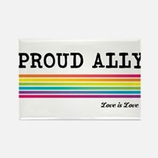 Proud Ally Rectangle Magnet