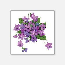 Violets Square Sticker
