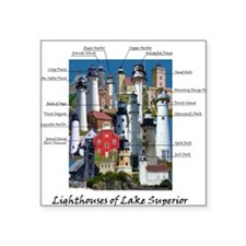 Lighthouses of Lake Superior Square Sticker