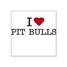 I Heart Pit Bulls Creeper Square Sticker
