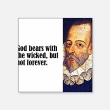 "Cervantes ""God Bears"" Square Sticker"
