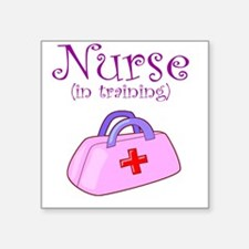 Nurse In Training Square Sticker