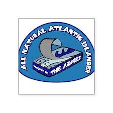 Azores Atlantic Islander Sardine Square Sticker