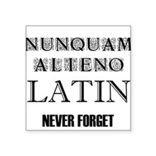 Never Forget Latin Square Sticker