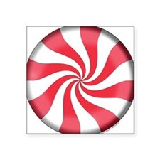 Peppermint Candy Square Sticker
