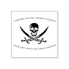 Pirating Therapist Square Sticker