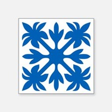 Hawaiian Quilt Square Sticker