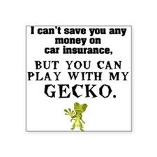 White GECKO Square Sticker