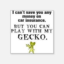 White GECKO Square Sticker