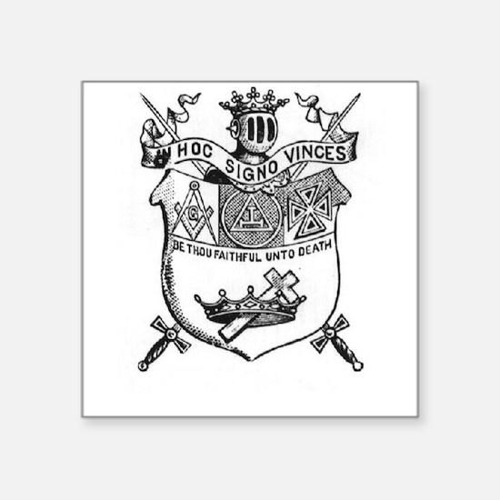Knights Templar Shield 2 Square Sticker