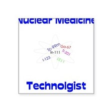 Nuclear Medicine Square Sticker